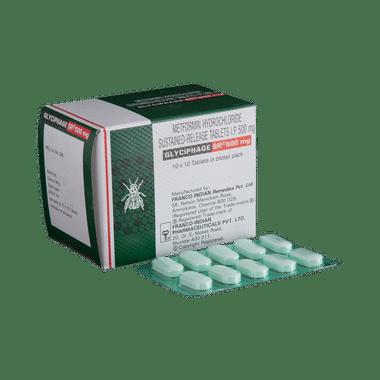 Glyciphage SR 500mg Tablet