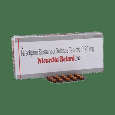 Nicardia Retard 20 Tablet SR