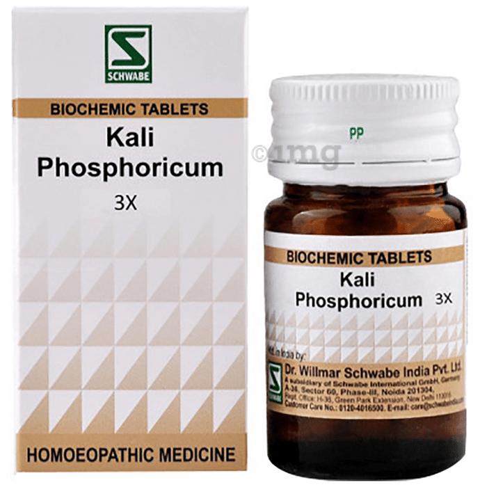 Dr Willmar Schwabe India Kali Phosphoricum Biochemic Tablet 3X