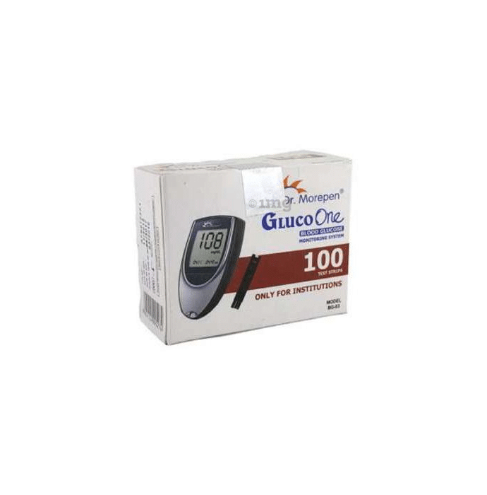 Dr Morepen Gluco One BG 03 Glucose Monitoring System with 100 Strips
