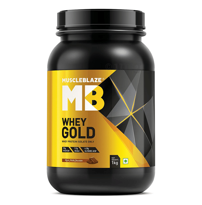 MuscleBlaze Whey Gold Whey Protein Isolate Only Powder Rich Milk Chocolate