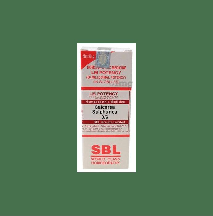 SBL Calcarea Sulphurica 0/6 LM