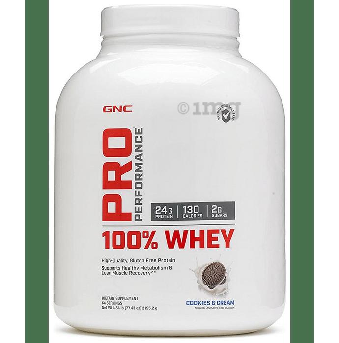 GNC Pro Performance 100% Whey Protein Cookies & Cream