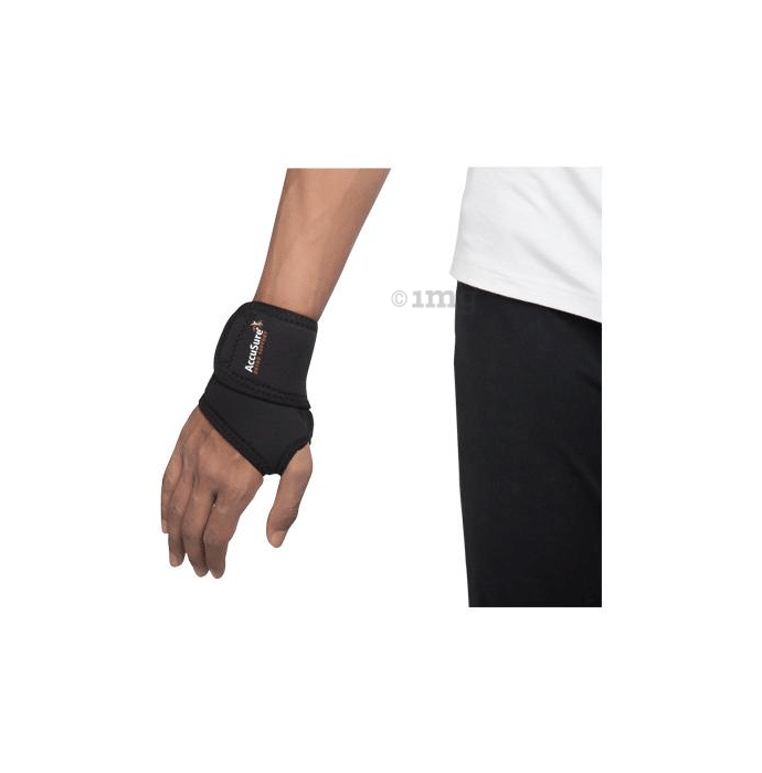 AccuSure W-4 Elastic Wrist Brace With Thumb