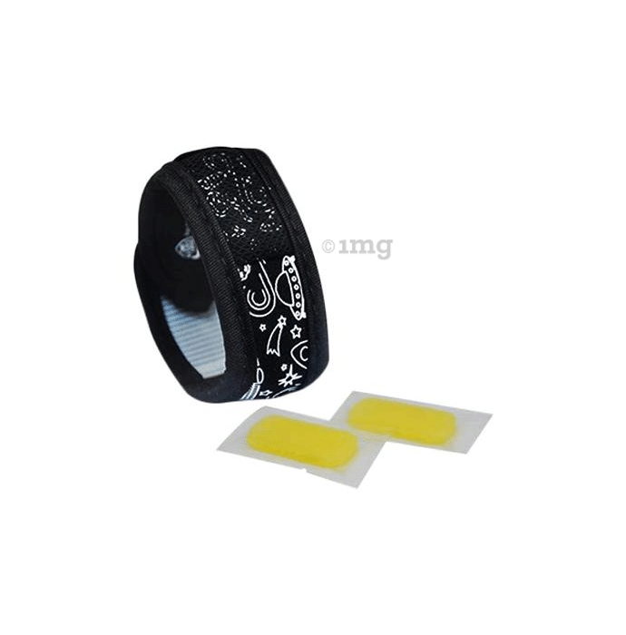 Safe-O-Kid Space Anti-Mosquito Band with 2 Refills and Free 6 Anti Mosquito Patches / Stickers