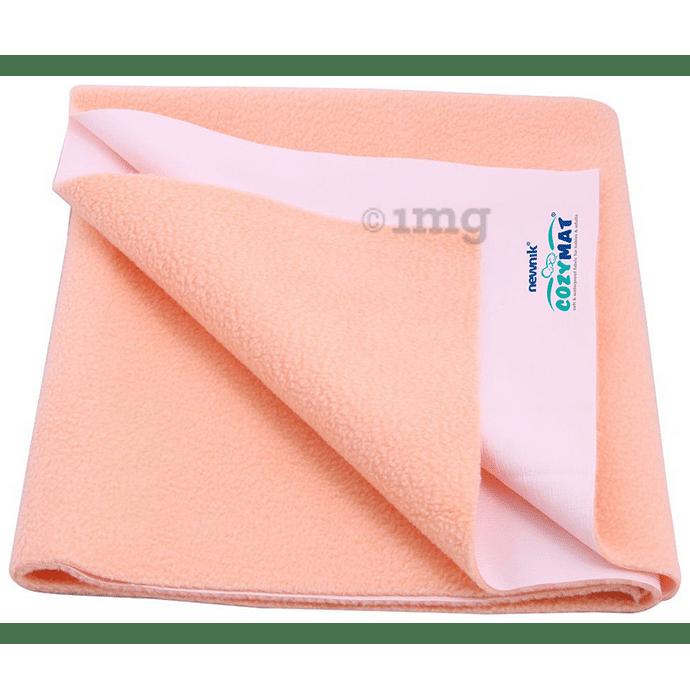 Newnik Cozymat, Dry Sheet (Size: 70cm X 50cm) Small Peach
