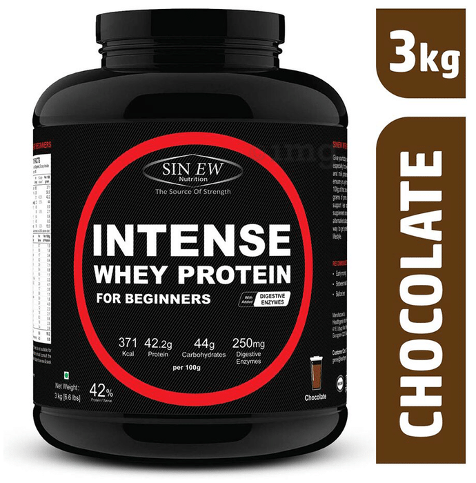 Sinew Nutrition Intense Whey Protein for Beginners with Digestive Enzymes Chocolate