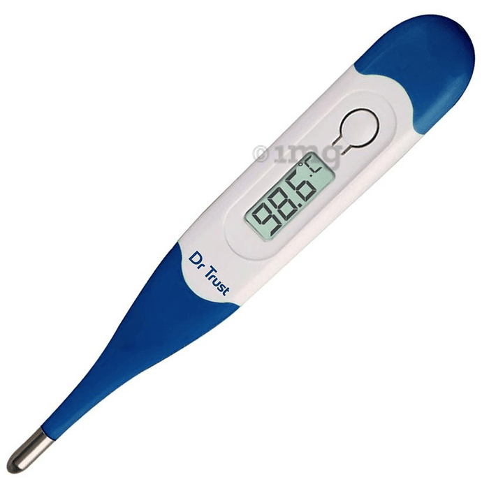 Dr Trust USA Waterproof Flexible Tip Digital Thermometer 604 White
