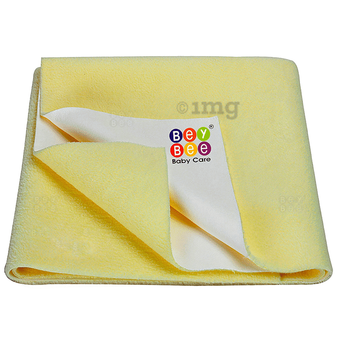 Bey Bee Waterproof Baby Bed Protector Dry Sheet for New Born Babies (70cm X 50cm) Small Yellow
