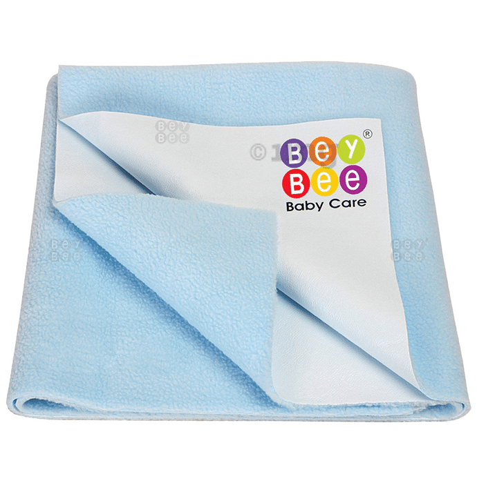 Bey Bee Waterproof Mattress Protector Sheet for Babies and Adults (140cm X 100cm) Large Blue