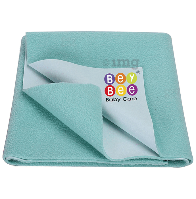 Bey Bee Waterproof Mattress Protector Dry Sheet for Babies and Adults (200cm X 140cm) Sheet XL Sea Green