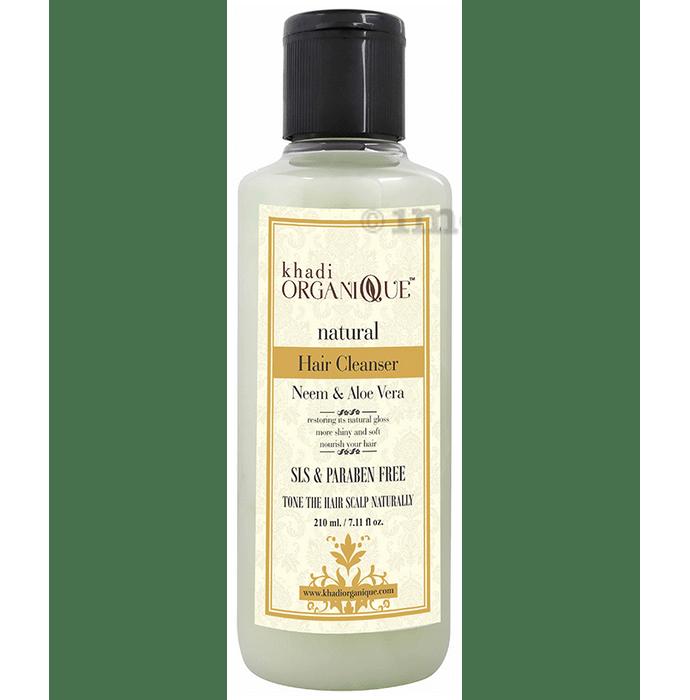 Khadi Organique Natural Hair Cleanser Shampoo Neem Aloe Vera SLS Paraben Free
