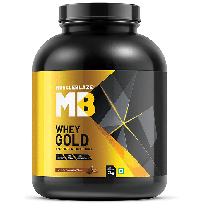 MuscleBlaze Whey Gold Whey Protein Isolate Only Powder Mocha Cappuccino