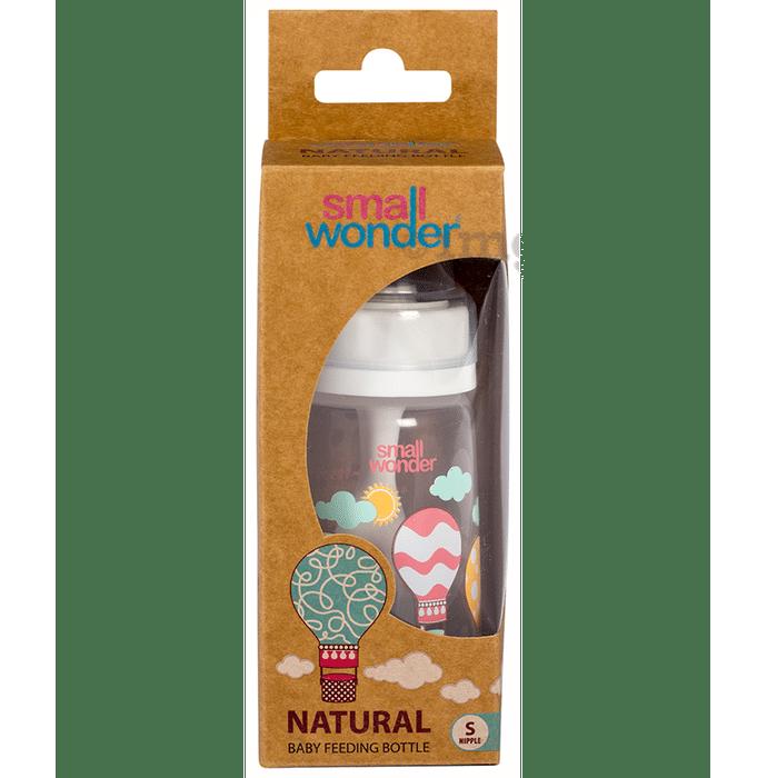 Small Wonder Natural Baby Feeding Bottle 125ml Small White