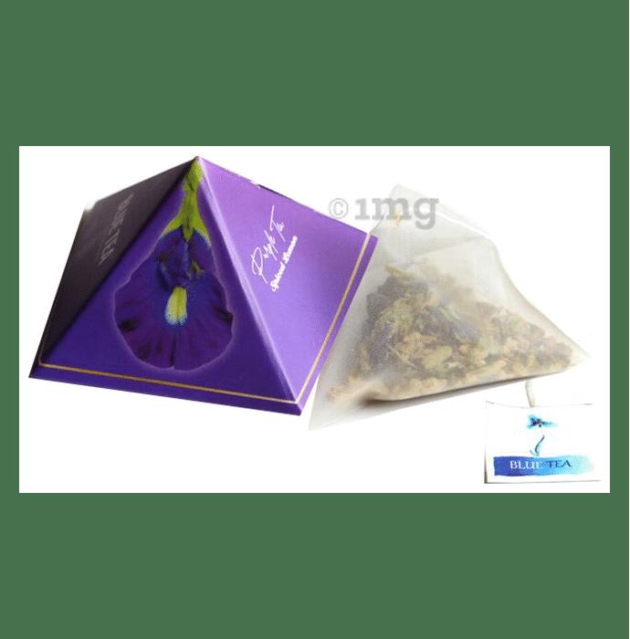 Purple Tea Herbal Tea Gift Box 9 Handcrafted Pyramid Tea Bag