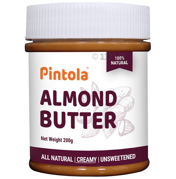 Pintola All Natural Almond Butter Creamy Unsweetened