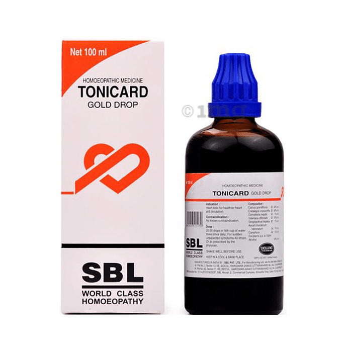 SBL Tonicard Gold Drop Homeopathic Medicine