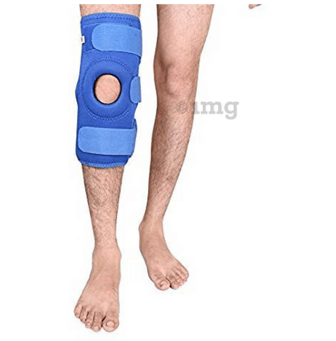 Medtrix Functional Open Patella Hinge Knee Support Large Blue