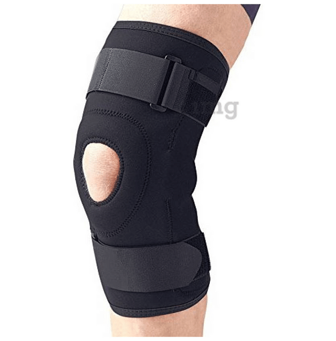 Medtrix Functional Open Patella Hinge Knee Support Medium Black