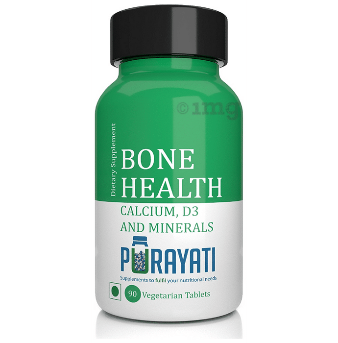 Purayati Bone Health Calcium D3 and Minerals Vegetarian Tablet