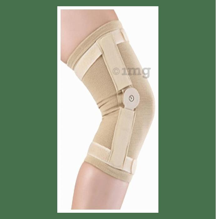 Kudize Hinged Knee Cap Tubular Knee Support Large Beige