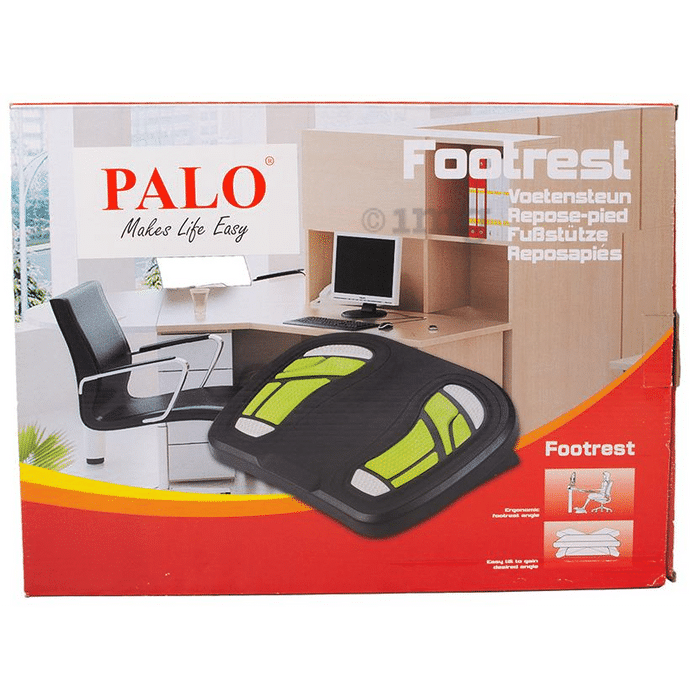 Palo008 Ergonomic & Angle Adjustable Footrest with Foot Pressure Points
