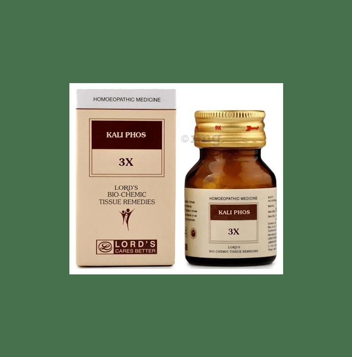 Lord's Kali Phos Biochemic Tablet 3X