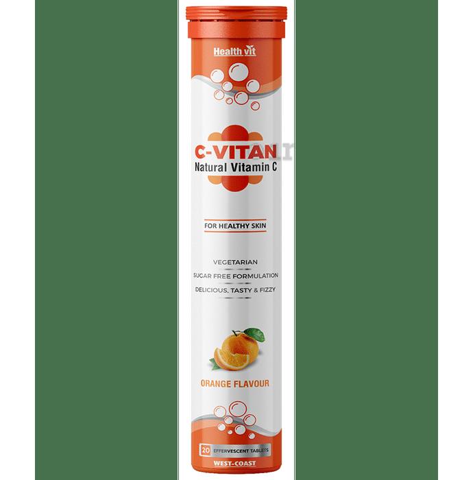 HealthVit C-Vitan Natural Vitamin C 1000mg Orange Effervescent Tablet