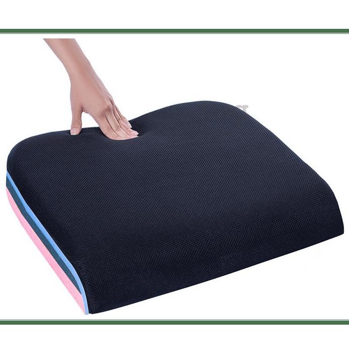 Fovera Tri-Foam Seat Cushion Large Mesh Black