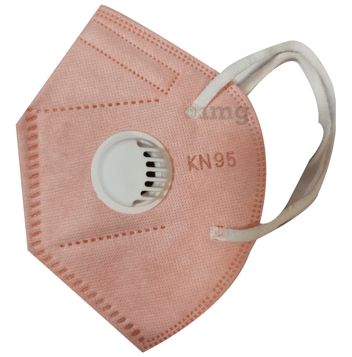 Kalor KN95 Anti-Pollution Face Mask Peach with Breathing Valve