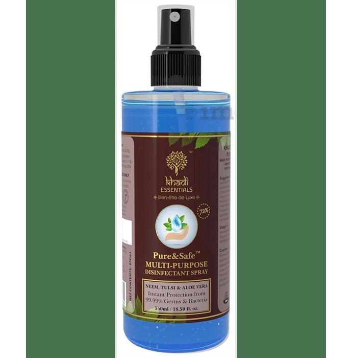 Khadi Essentials Pure & Safe Multi-Purpose Disinfectant Spray (550ml Each)