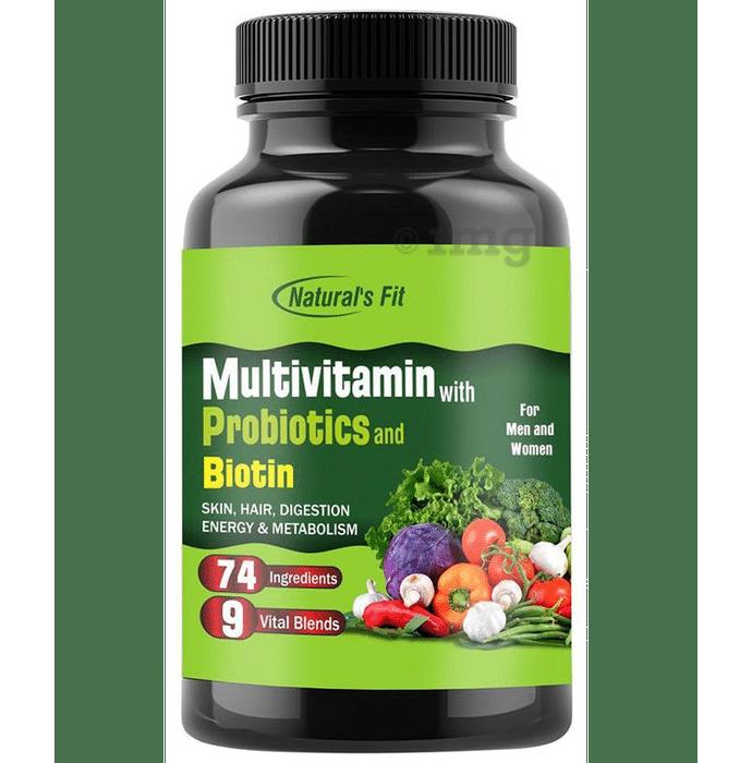 Natural's Fit Multivitamin with Probiotics and Biotin Capsule