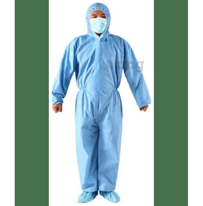 DCG 3 Ply PPE Suit (75 GSM) XL Blue