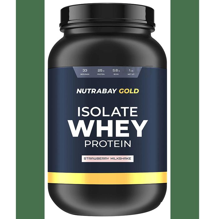 Nutrabay Gold Isolate Whey Protein Strawberry Milkshake