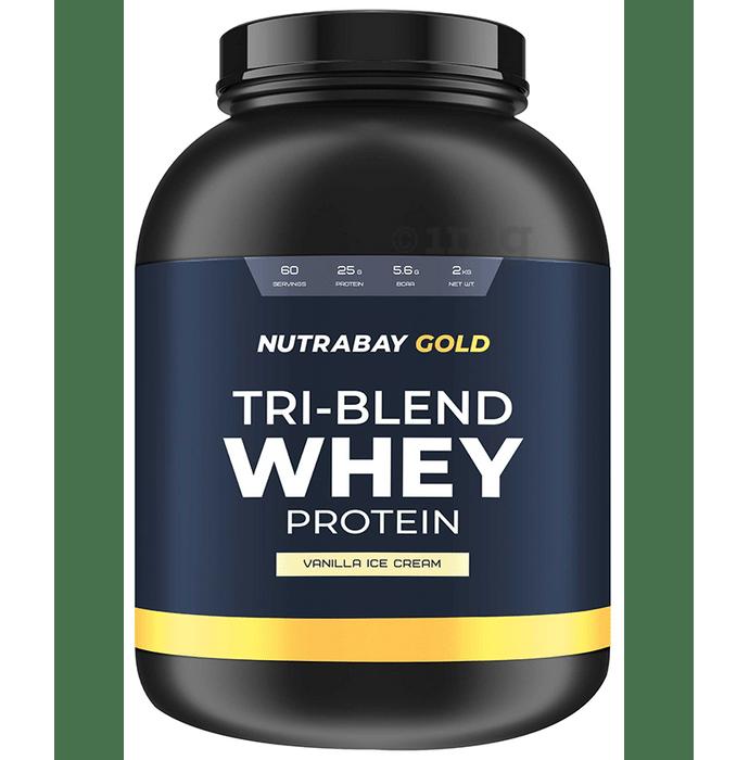 Nutrabay Gold Tri-Blend Whey Protein Vanilla Icecream
