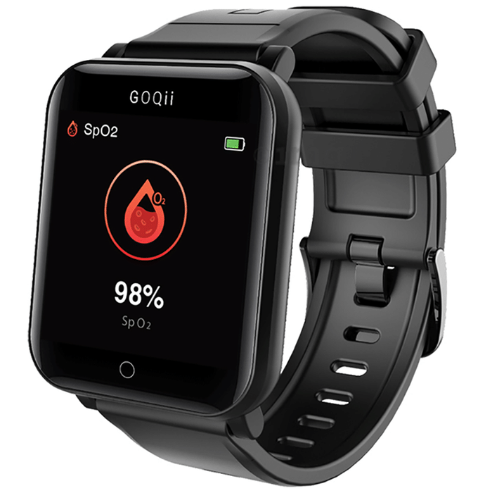 GOQii Smart Vital Fitness SpO2 Tracker with 3 Months Personal Coaching Subscription