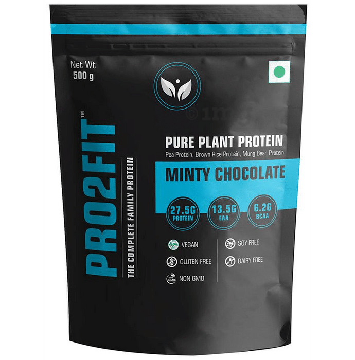 Pro2fit Minty Chocolate Pure Plant Protein (500gm Each)
