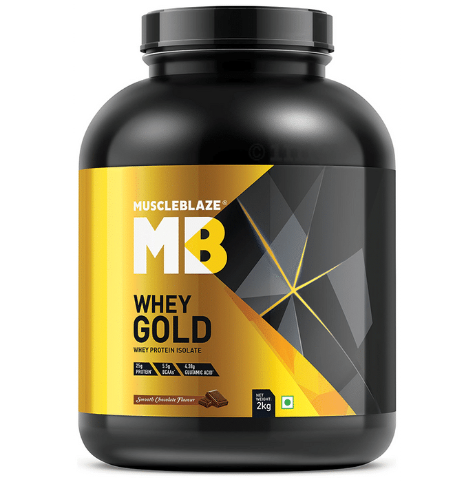 MuscleBlaze Whey Gold Whey Protein Isolate Only Powder Smooth Chocolate