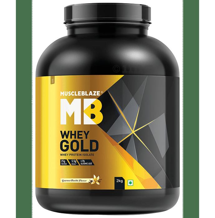 MuscleBlaze Whey Gold Whey Protein Isolate Only Powder Gourmet Vanilla