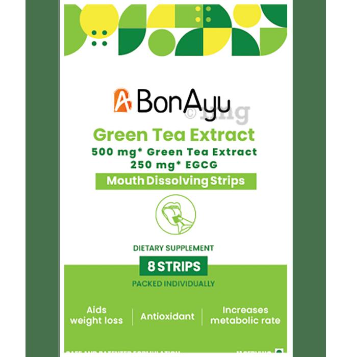 BonAyu Green Tea Extract Mouth Dissolving Strip (8 Strip Each)