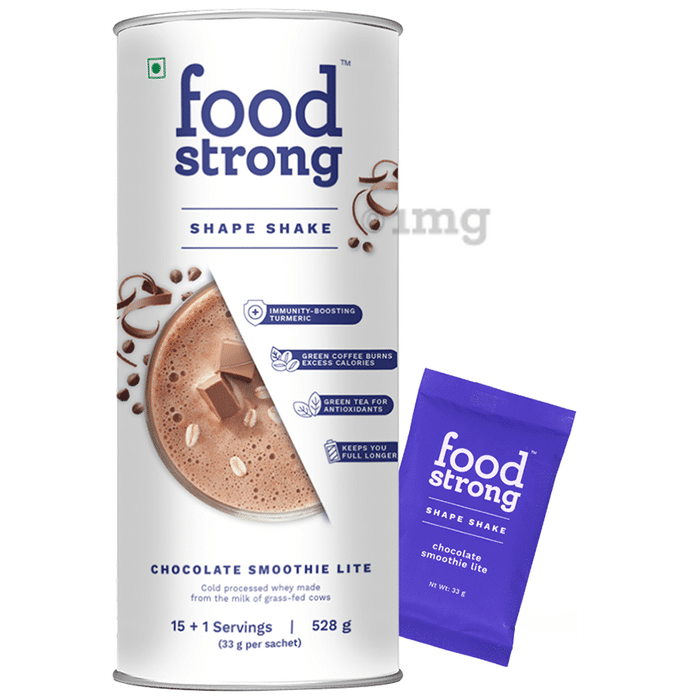 Foodstrong Shape Shake (33gm Each) Chocolate Smoothie Lite