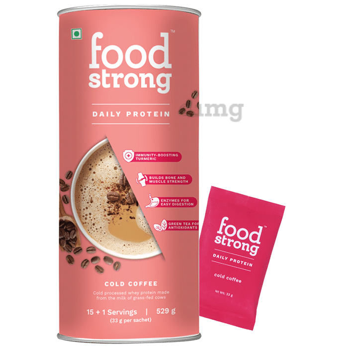 Foodstrong Daily Protein Sachet (33gm Each) Cold Coffee