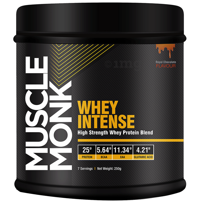 Muscle Monk Whey Intense High Strength Whey Protein Blend Royal Chocolate