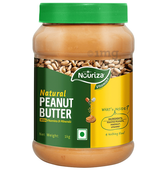 Nouriza Unsweetened with Added Vitamins, Minerals & Omega-3 Creamy Peanut Butter