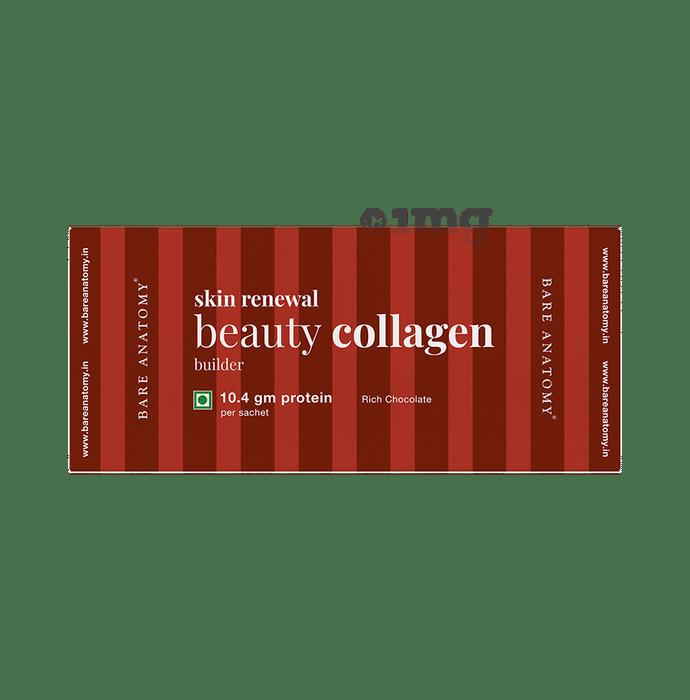 Bare Anatomy Skin Renewal Beauty Collagen Builder Sachet (18gm Each) Rich Chocolate