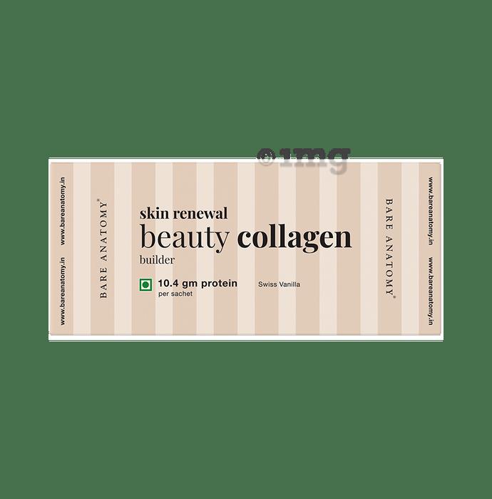 Bare Anatomy Skin Renewal Beauty Collagen Builder Sachet (18gm Each) Swiss Vanilla