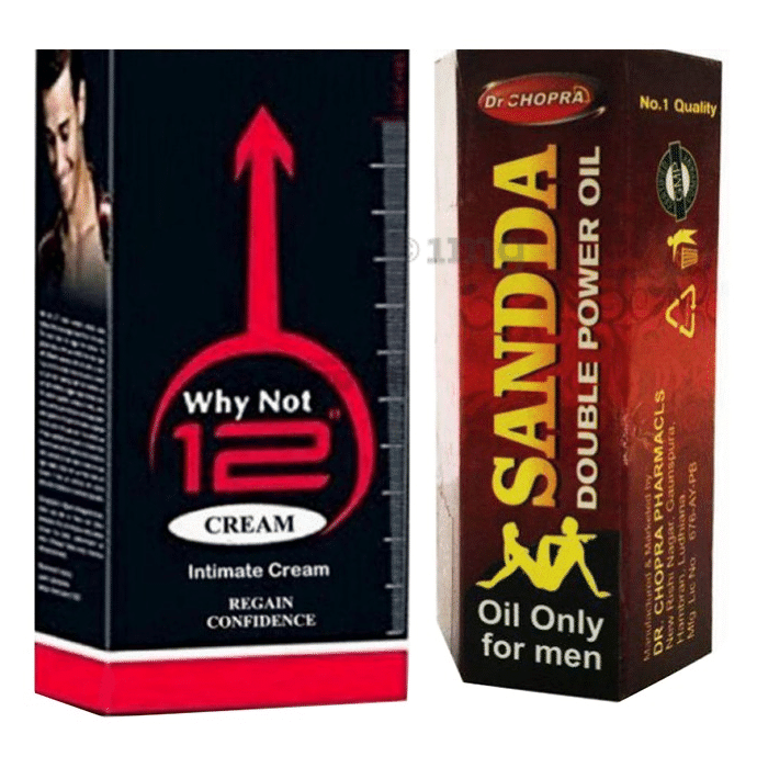 Zee Laboratories Combo Pack of Why Not 12 Cream 60gm and Sandda Double Power Oil 15ml