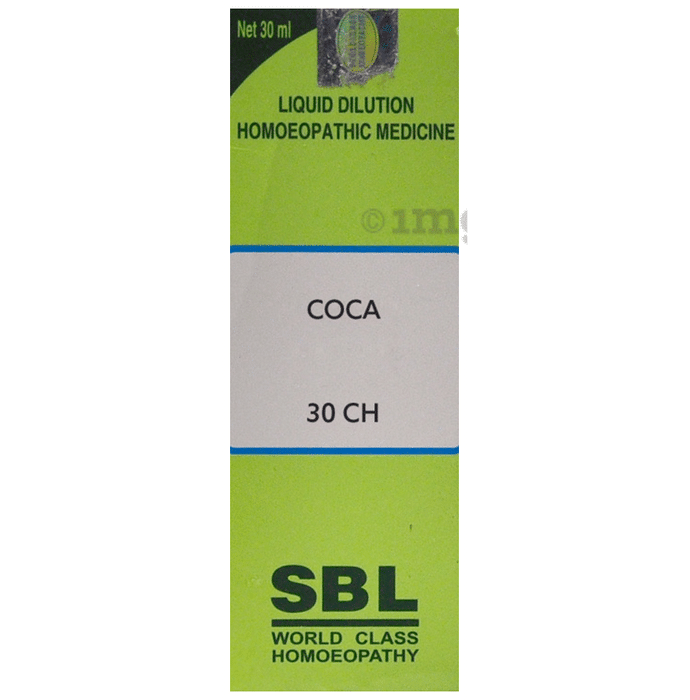 SBL Coca Dilution Homeopathic Medicine 30 CH