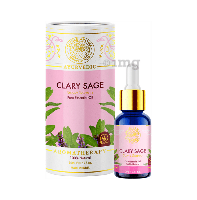 Divine Aroma Ayurvedic 100% Natural Pure Essential Oil Clary Sage