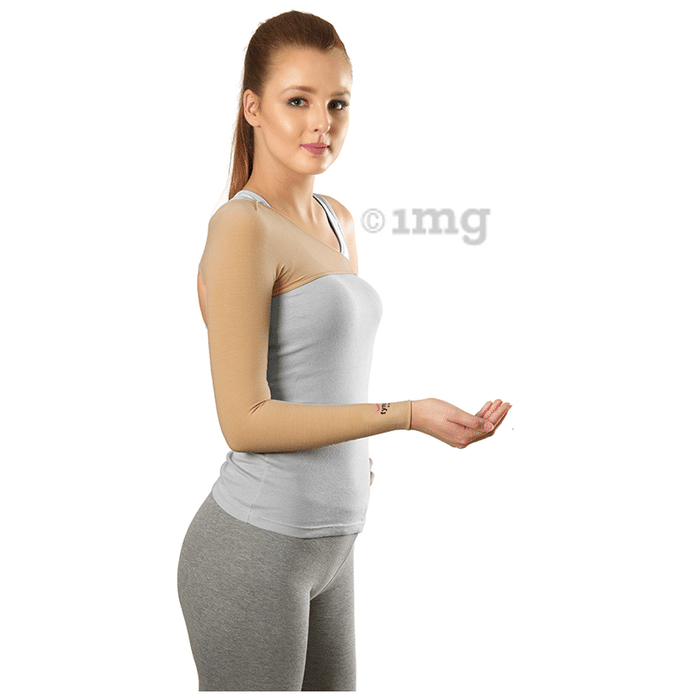 Tynor I 77 Compression Garment Arm Sleeve with Shoulder Cover Large Wide